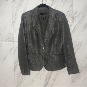 3/$60 NY&Co Wool Metallic Holiday Button Blazer 10